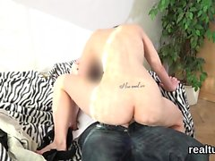Exquisite czech kitten is teased in the mall and banged in p