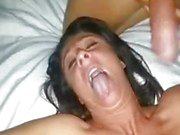 Milf in a threesome with big cuban cock