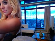 Solo blonde webcam babe spreading wide