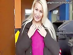 Sexy slim Yenna hard fucked in public