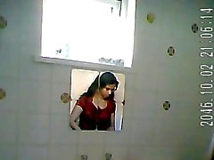 Indian lady bathroom spy