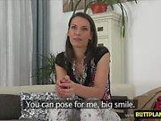 Hot amateur casting with cumshot