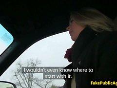 Pickedup amateur eurobabe slammed on backseat
