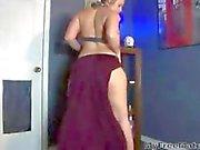 sexy amateur milf dances on a homemade video