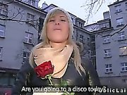 Random girl from public fucked by huge dick in her flat