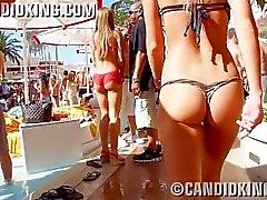 Perfect teen ass in a thing thong bikini!