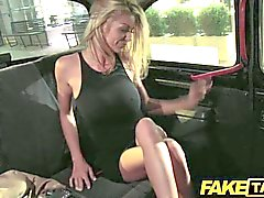 FakeTaxi - Blonde slut rides long cock in UK
