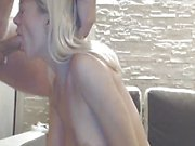 Blonde amateur fucked on webcam