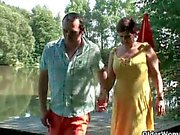 Milfs Dana and Jitka rammed in the woods