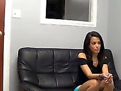 Hot brunette Latina fucked on casting