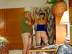 Chubby girl spanked and fucked