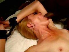 Blonde wife tied again