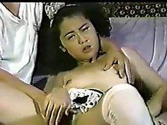 Amateur asian chick chokes in hardcore deepthroat