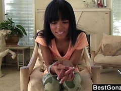 BestGonzo Sexy black gf on a hot strip chess