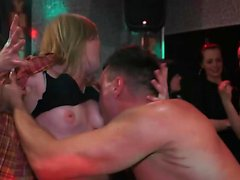Hot babes at the club get shagged