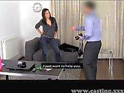 Casting - Dark haired anal sex freak