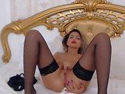 HOT live cam model masturbates until orgasm twice