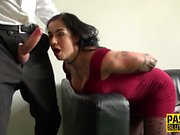 Deep throated submissive