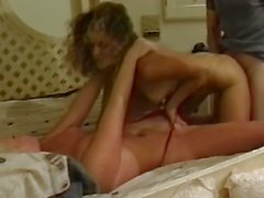 Hotties sharing cock and pussy