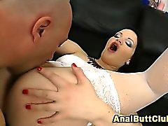 Anal slut ass toyed and fingered