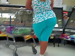 Big Booty Mature BBW Blue Tights..