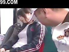 cute busty schoolgirl fucked on bus