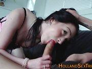Real hooker tugs cock