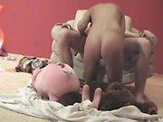 Horny couple on hidden cam