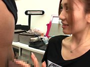 Japanese babe is fucked with public