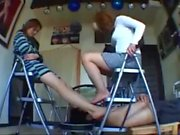 Japanese double trample in barefoot