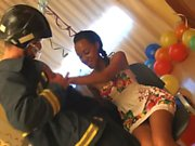 Ebony beauty celebrates her 18 birthday by having great fuck