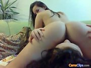 European prostitute licking pussy with lesbian amateur