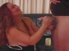 Chubby amateurs first handjob