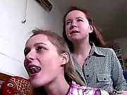 Aussie lesbian amateurs stripping and kissing