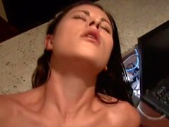 Hot mom moans over fat cock deep inside her pussy
