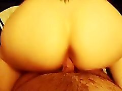 Big butt wife gets doggystyled and jizzed on