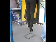 Long legs on bus (nice ass, too)