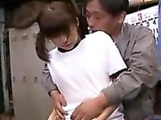 Pigtailed Oriental cutie with a sweet ass gets fucked by an