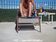 amateur milf mommy hardcore sex by the pool