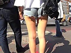 Bubbly Blonde Shaky Cheekbones in a Nutshell Pants