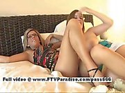 leslie and danielle stunning lesbian teen babes fisting pussy clip