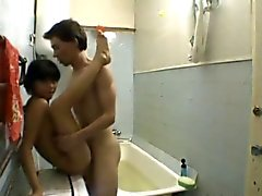 Amateur petite asian kazakh teen girl and Russian guy pt2