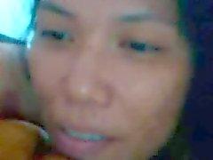 Thai girl Sa masturbating for me on webcam