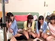Young Asian babe in a nasty and messy group sex