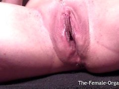 Selfie Masturbating Dripping Wet Pussy to Multiple Pulsating Orgasms