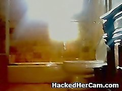 Not So Smart Blonde Amateur Plays With Herself On Web Cam