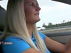 glamorous babes sucking dick in car
