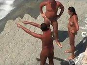 Beach Spy Cam Caught Some Big Mama Shiny Boobs