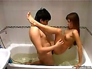 Hot Russian Couple in Bathroom