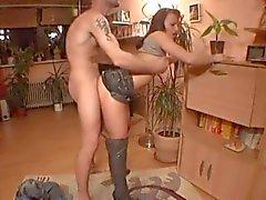Experienced German Slut Presenting Her Holes